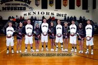 JG Basketball Var and JV SENIOR Night vs New Lex February 14, 2012